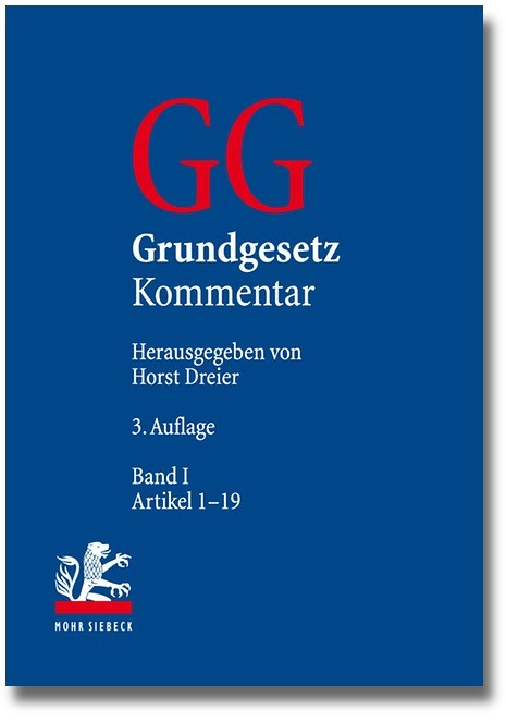 Grundgesetz Kommentar: GG, Band I: Präambel, Artikel 1-19   Dreier   Buch (Cover)