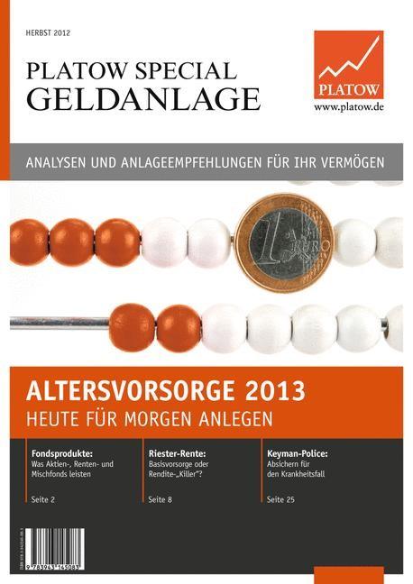 PLATOW Special Geldanlage | Schirmacher, 2012 | Buch (Cover)