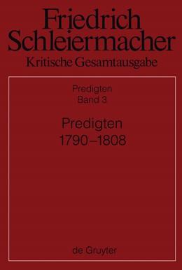 Abbildung von Meckenstock   Predigten 1790-1808   2013   Band 3: Predigten 1790-1808