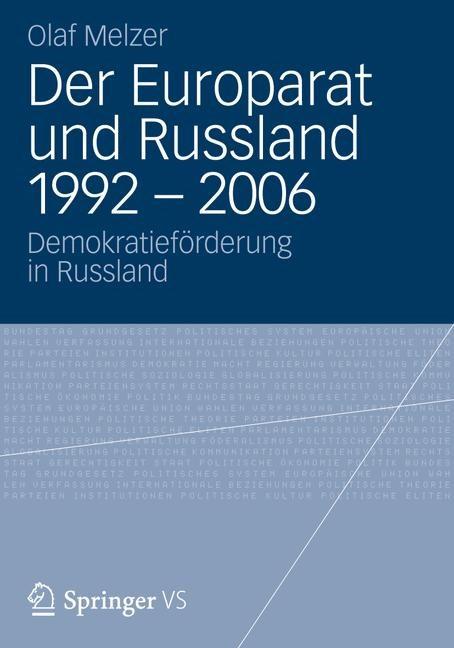 Abbildung von Melzer | Der Europarat und Russland 1992 – 2006 | 2012