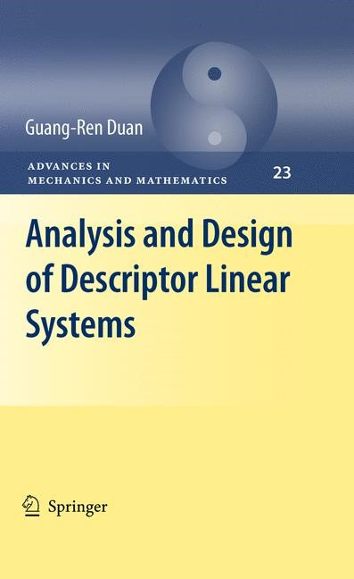 Analysis and Design of Descriptor Linear Systems | Duan, 2012 | Buch (Cover)