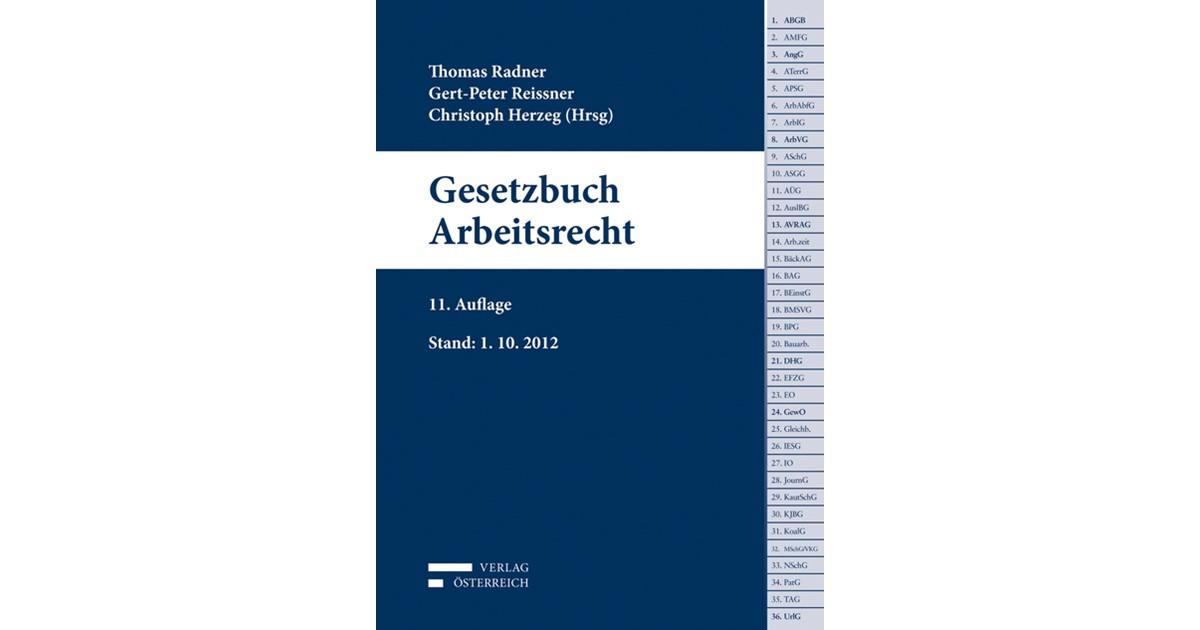 Gesetzbuch Arbeitsrecht Radner Reissner Herzeg 11