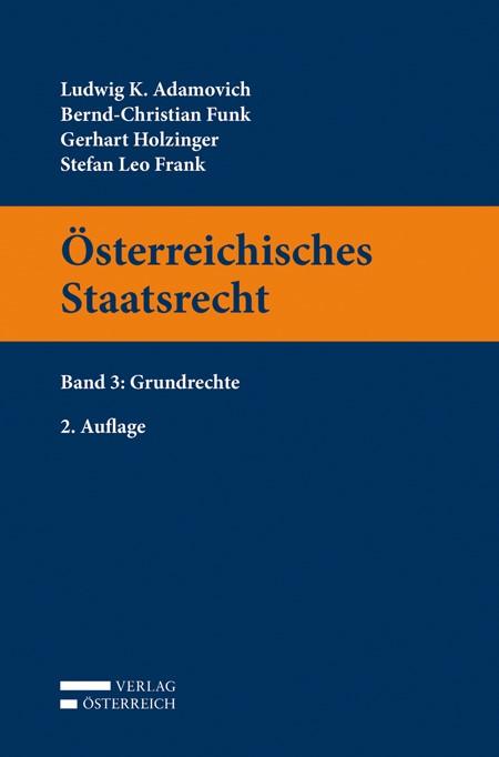 Österreichisches Staatsrecht | Adamovich / Funk / Holzinger, 2015 | Buch (Cover)