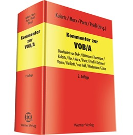 Abbildung von Kulartz / Marx   Kommentar zur VOB/A   2. Auflage   2014   beck-shop.de