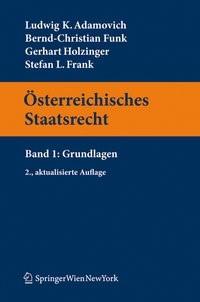 Abbildung von Adamovich / Funk / Holzinger   Österreichisches Staatsrecht   2., aktualisierte Aufl.   2011