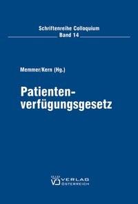 Abbildung von Memmer / Kern | Patientenverfügungsgesetz | 2006
