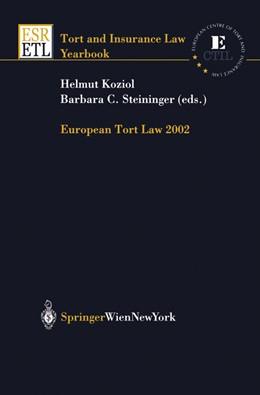Abbildung von Koziol / Steininger   European Tort Law 2002   2003