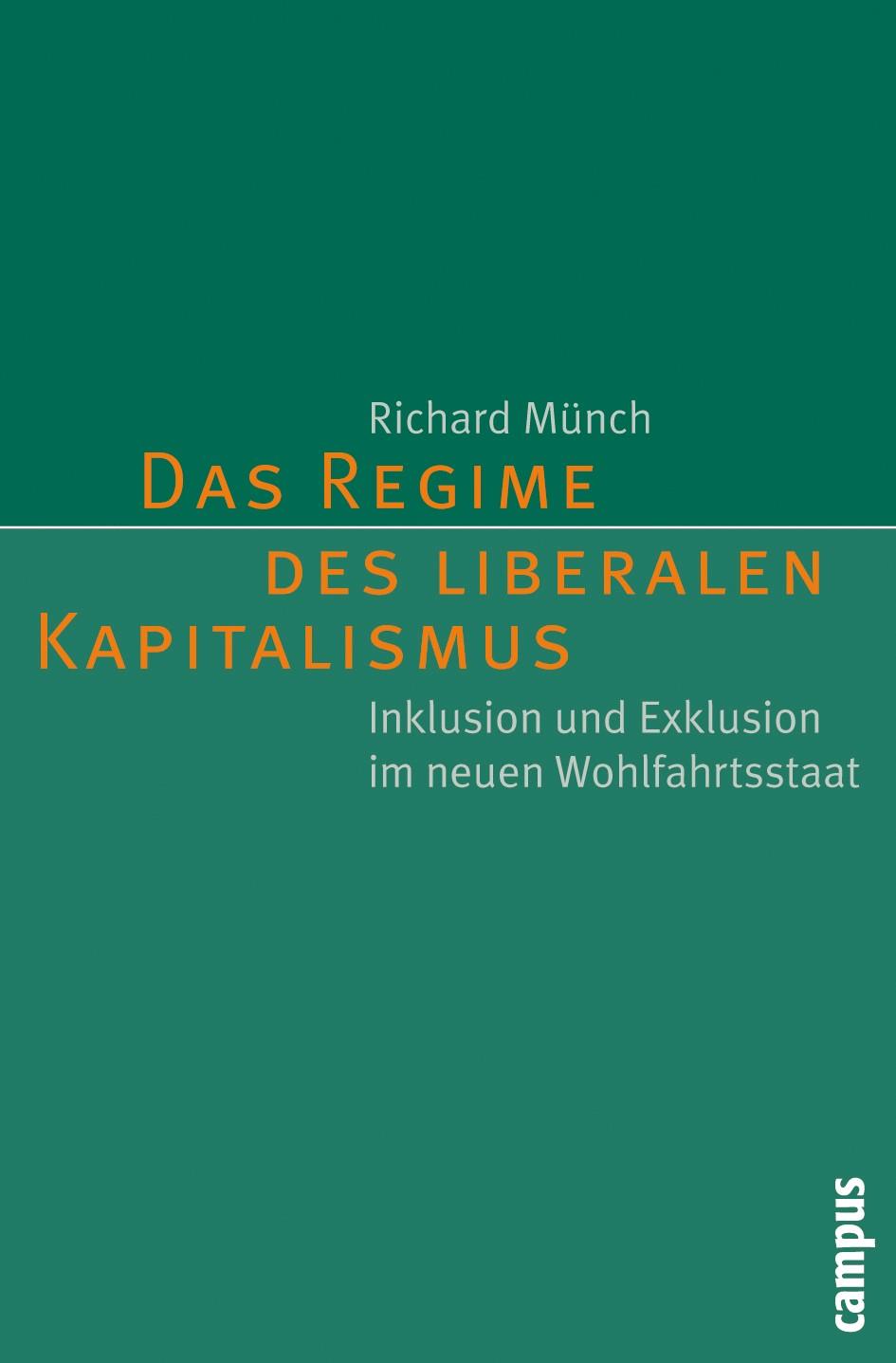 Abbildung von Münch | Das Regime des liberalen Kapitalismus | 2009