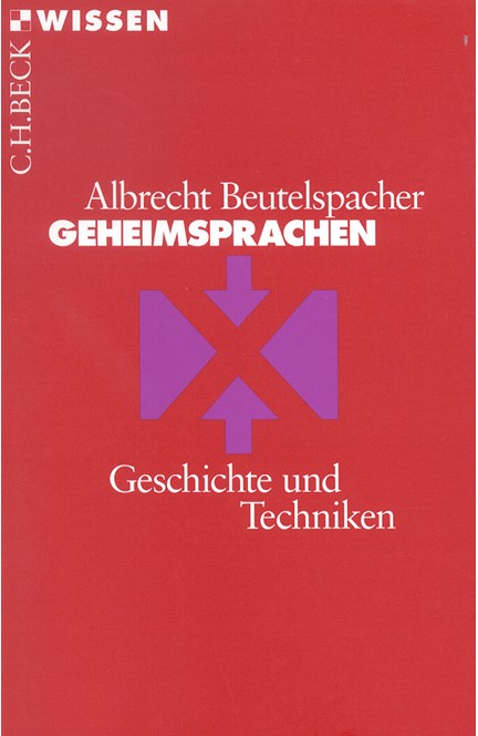 Cover: Albrecht Beutelspacher, Geheimsprachen