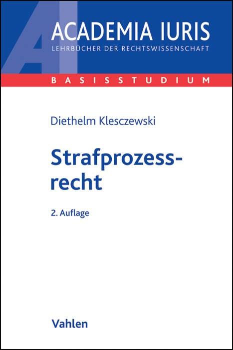 Strafprozessrecht | Klesczewski | 2. Auflage, 2013 | Buch (Cover)