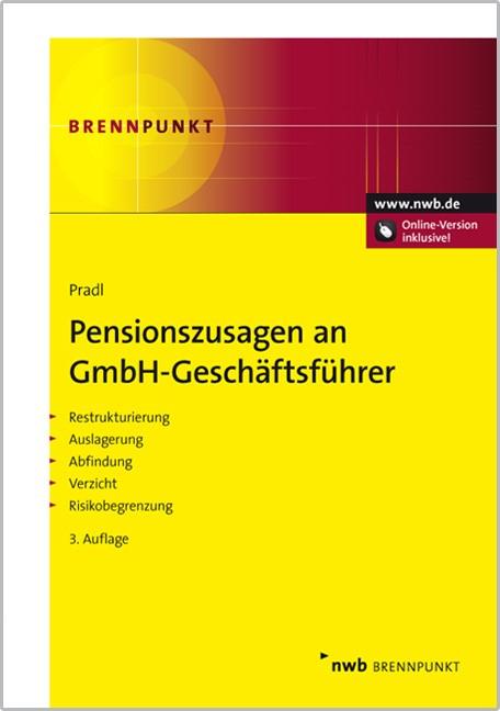 Pensionszusagen an GmbH-Geschäftsführer | Pradl (Cover)