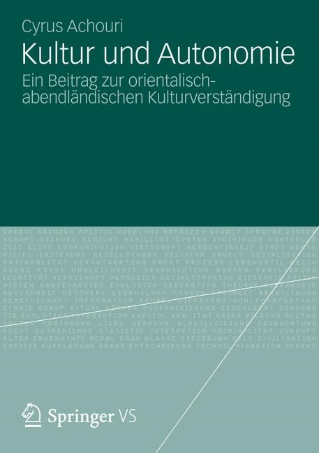 Kultur und Autonomie | Achouri, 2012 | Buch (Cover)