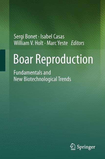 Boar Reproduction | Bonet / Casas / Holt / Yeste, 2013 | Buch (Cover)