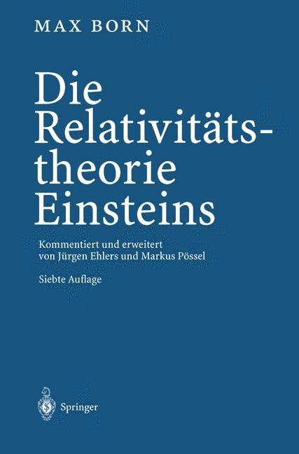 Die Relativitätstheorie Einsteins | Born / Ehlers / Pössel, 2012 | Buch (Cover)
