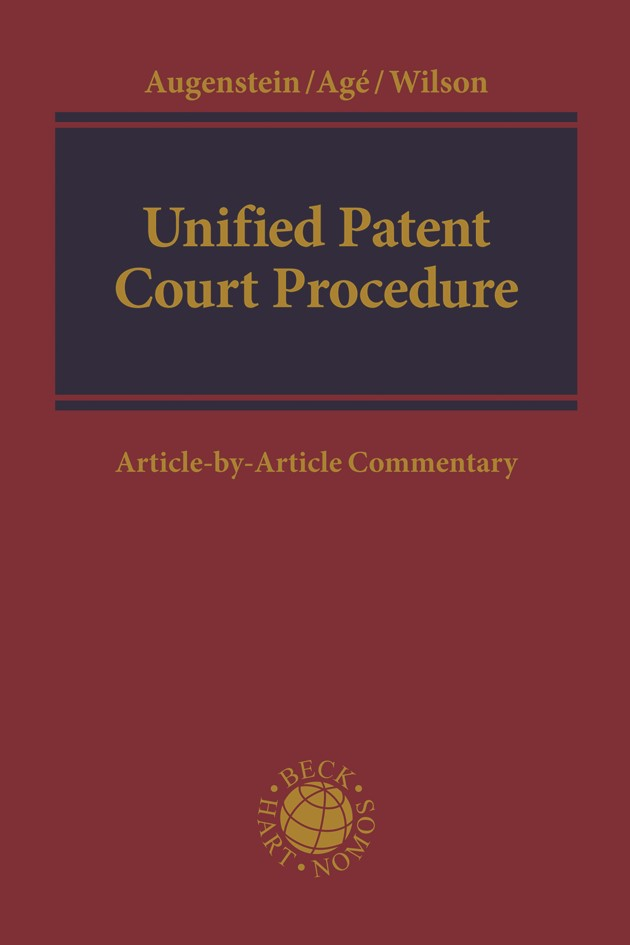 Unified Patent Court Procedure | Augenstein / Agé / Wilson, 2019 | Buch (Cover)