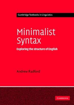 Abbildung von Radford   Minimalist Syntax   2004   Exploring the Structure of Eng...