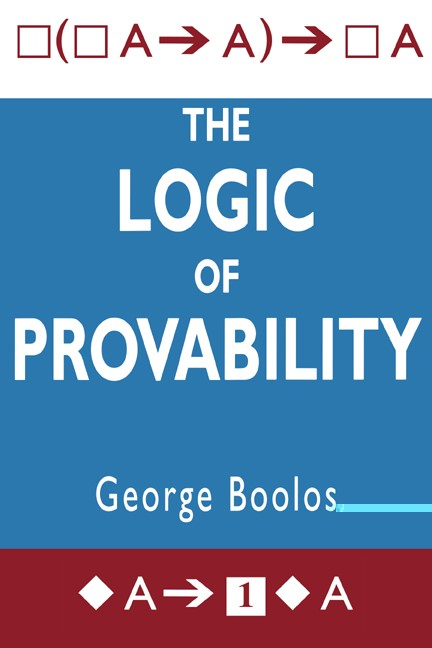 Abbildung von Boolos | The Logic of Provability | 1995