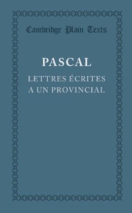 Abbildung von Pascal | Lettres écrites a un provincial | 2013 | (I, IV, V, XIII)