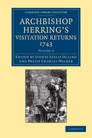 Abbildung von Ollard / Walker | Archbishop Herring's Visitation Returns, 1743 | 2013