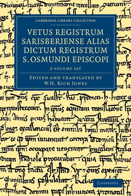 Abbildung von Vetus registrum Sarisberiense alias dictum registrum S. Osmundi Episcopi 2 Volume Set | 2012
