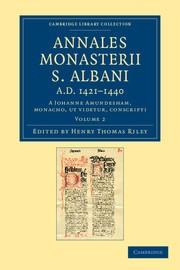 Abbildung von Riley / Amundesham | Annales Monasterii S. Albani AD 1421–1440 | 2012