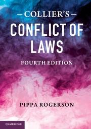 Abbildung von Rogerson / Collier   Collier's Conflict of Laws   2013