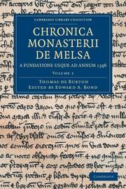 Abbildung von Burton / Bond | Chronica Monasterii de Melsa, a Fundatione usque ad Annum 1396 | 2012