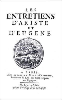 Les Entretiens d'Ariste et d'Eugène | Bouhours | Paris 1671. Reprint: Hildesheim 2009., 2009 | Buch (Cover)