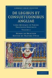 Abbildung von Bracton / Twiss | De Legibus et Consuetudinibus Angliae | 2012