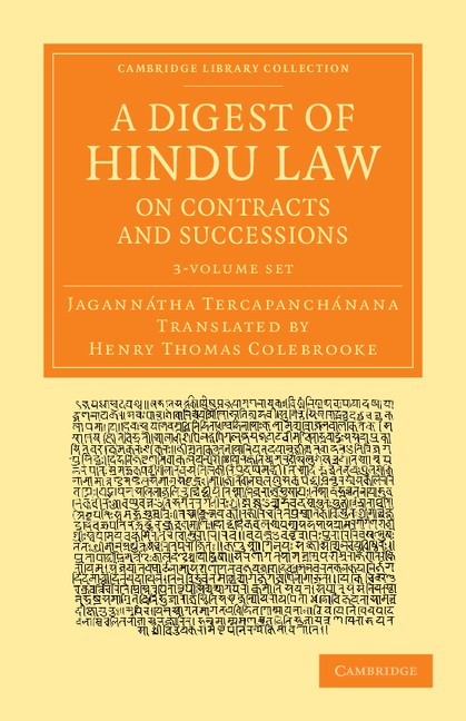 Abbildung von Tercapanchánana | A Digest of Hindu Law, on Contracts and Successions 3 Volume Set | 2013
