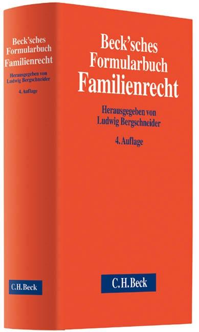 Beck'sches Formularbuch Familienrecht (Cover)