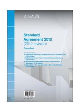 Abbildung von Riba | RIBA Standard Agreement 2010 (2012 Revision): Consultant | 2013