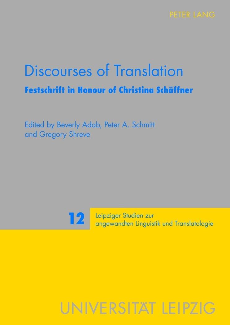 Abbildung von Adab / Schmitt / Shreve | Discourses of Translation | 2012