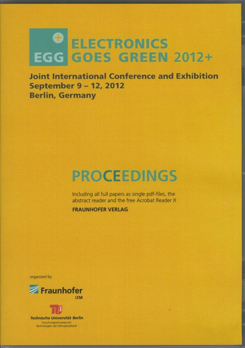Electronics Goes Green 2012+ - . Taking Green to the Next Level | / Lang / Nissen / Middendorf / Chancerel, 2012 (Cover)