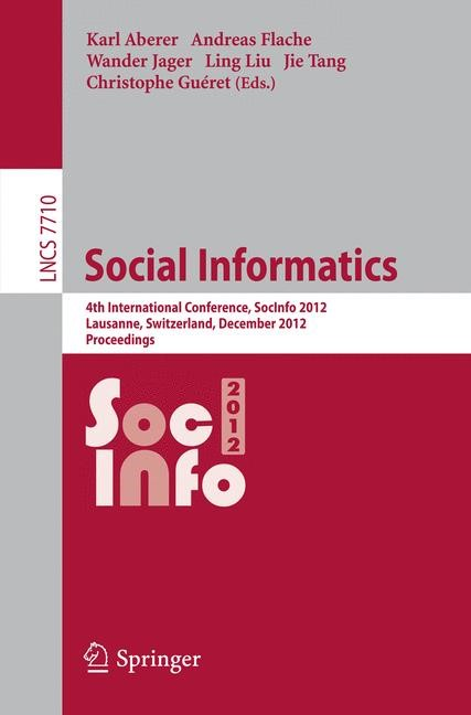 Social Informatics | Aberer / Flache / Jager / Liu / Tang / Gueret, 2012 | Buch (Cover)