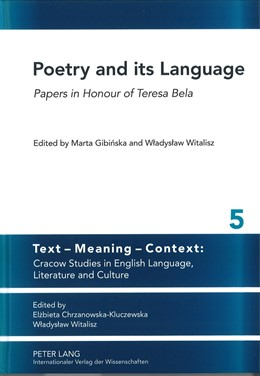 Abbildung von Gibinska / Witalisz   Poetry and its Language   2012   Papers in Honour of Teresa Bel...   5