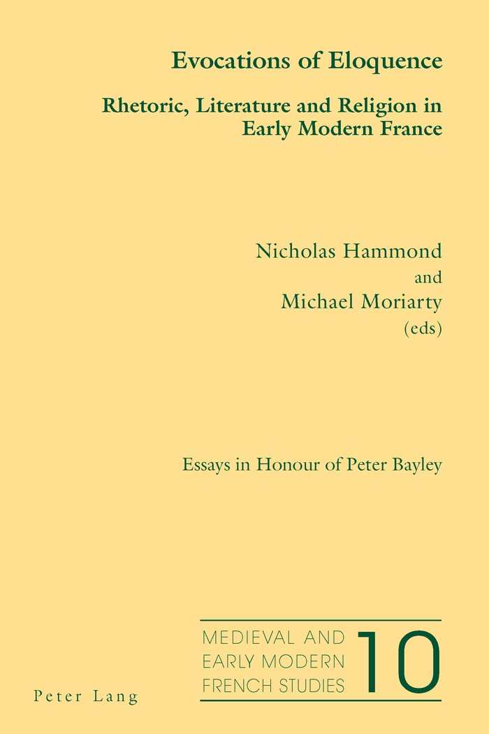 Evocations of Eloquence | Moriarty / Hammond, 2012 | Buch (Cover)