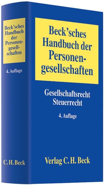 Beck'sches Handbuch der Personengesellschaften | Buch (Cover)