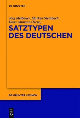 Abbildung von Meibauer / Steinbach / Altmann | Deutsche Satztypen | 1. Auflage | 2013
