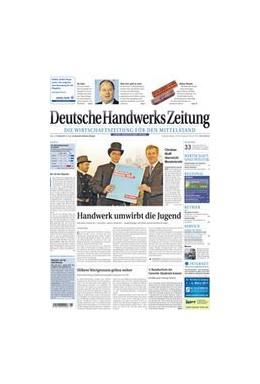 Abbildung von Deutsche Handwerks Zeitung - DHZ   72. Jahrgang   2020   Die Wirtschaftszeitung für den...