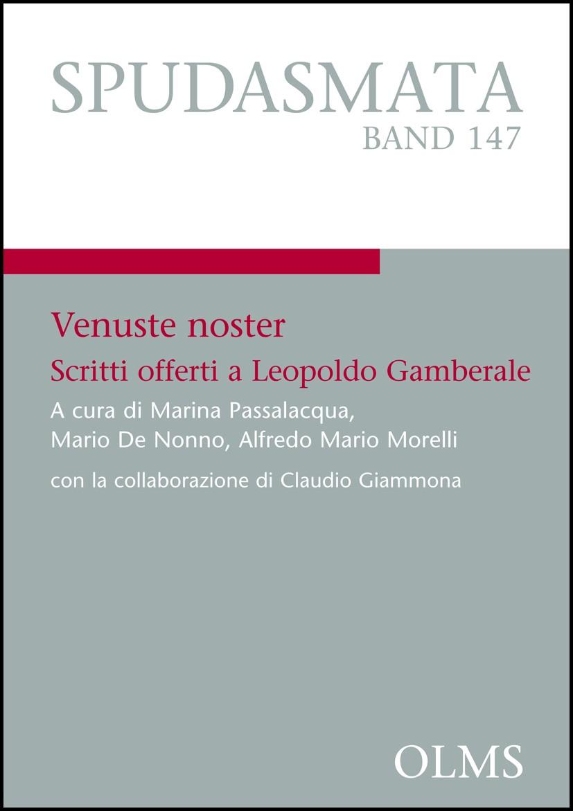 Venuste noster   Morelli / Nonno / Passalacqua, 2012   Buch (Cover)