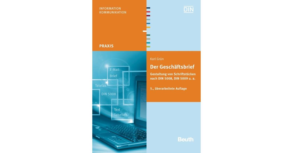Der Geschäftsbrief Grün überarbeitete Ausgabe 2013 Buch