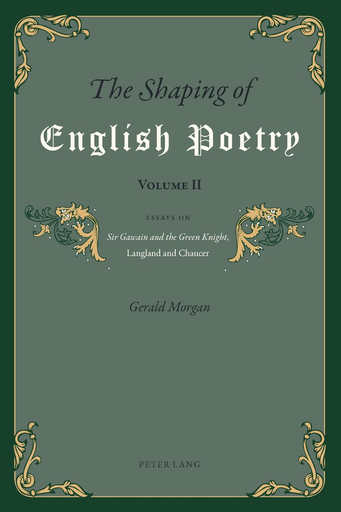 The Shaping of English Poetry- Volume II | Morgan, 2012 | Buch (Cover)