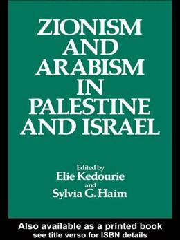 Abbildung von Haim / Kedourie | Zionism and Arabism in Palestine and Israel | 1982