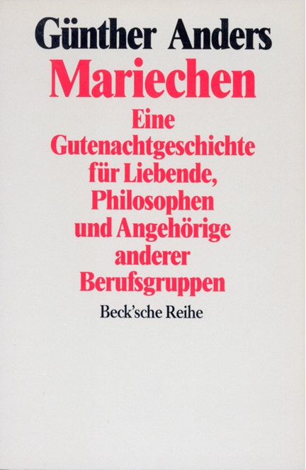 Cover: Günther Anders, Mariechen