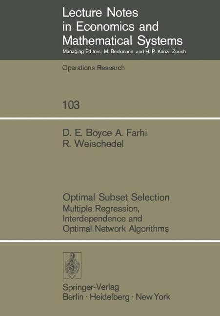 Optimal Subset Selection   Boyce / Farhi / Weischedel, 1974   Buch (Cover)