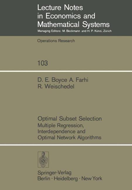 Abbildung von Boyce / Farhi / Weischedel | Optimal Subset Selection | 1974