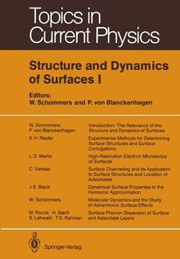 Abbildung von Schommers / Blanckenhagen | Structure and Dynamics of Surfaces I | 2012 | 41
