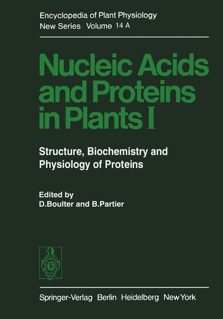 Nucleic Acids and Proteins in Plants I | Boulter, 2011 | Buch (Cover)