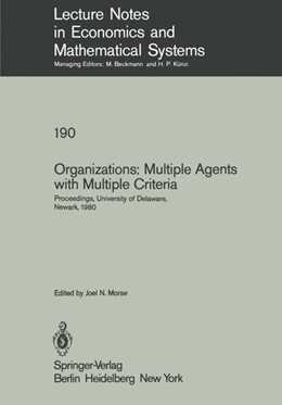 Abbildung von Morse | Organizations: Multiple Agents with Multiple Criteria | 1981 | Proceedings of the Fourth Inte... | 190